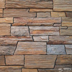 Betonový obklad VASPO Břidlice hradná HNĚDÁ