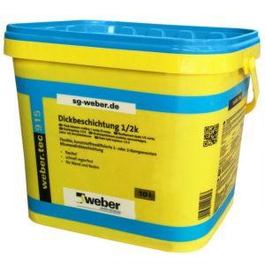 Asfaltová stěrka weber.tec hydroizolace 915 10l