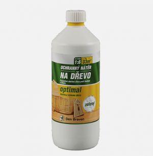 Chemický ochranný nátěr na dřevo OPTIMAL 5kg zelený