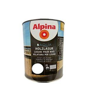 Tenkovrstvá impregnační lazura Alpina Holzlasur 90 Weiss-bílá 2,5L