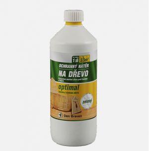 Chemický ochranný nátěr na dřevo OPTIMAL 1kg hnědý