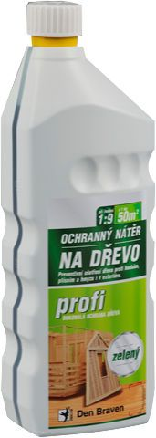 Chemický ochranný nátěr na dřevo OPTIMAL 1kg zelený