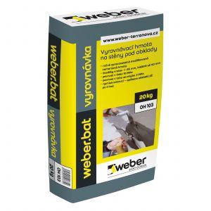 Modifikovaná cementová hmota weber.bat vyrovnávka, 20kg