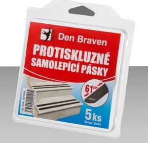 DEN BRAVEN protiskluzná páska 5ks 19mmx61cm černá