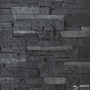 Betonový obklad VASPO Kamen lámaný TMAVĚŠEDÝ