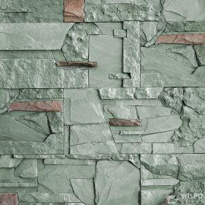 Betonový obklad VASPO Kámen mix ZELENOŠEDÝ