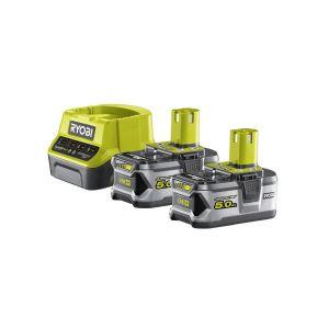 RYOBI RC18120-250 Set akumulátor a nabíječka ONE+ 18V, 2x 5,0Ah Li-ion