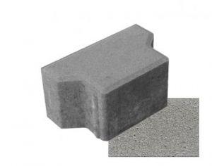 Betonová zámková dlažba BROŽ IČKO šedá, výška 60 mm - půlka