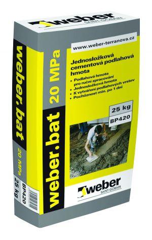 Jednosložkový cementový potěr Weber.bat 20 Mpa, 25 kg