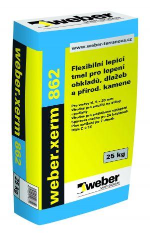 Flexibilní lepidlo z trasového cementu weber.xerm 862 25kg