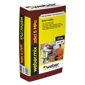 Zdící malta weber.mix zdící 5MPa 25kg