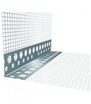 Rohový profil s tkaninou kombi LKS,hliník 2,0m
