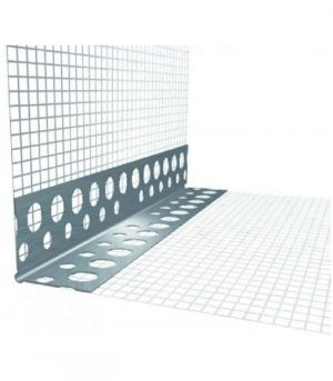 Rohový profil s tkaninou kombi LKS,hliník 2,5m