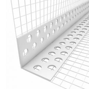 Rohový profil s tkaninou kombi LKS,plast 2,0m