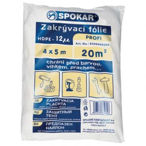 SPOKAR zakrývací fólie profi-HDPE 4x5m /12my/