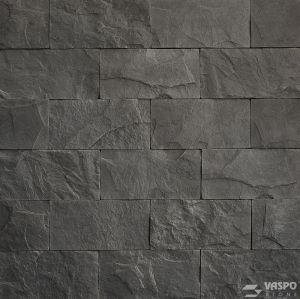 Betonový obklad VASPO Břidlice standard TMAVĚŠEDÁ