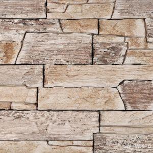 Betonový obklad VASPO Břidlice hradná BÉŽOVOHNĚDÁ
