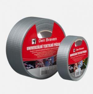 Lepící páska textilní univerzální 25mmx25m stříbrná