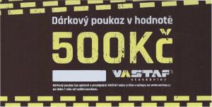 VASTAP DÁRKOVÝ POUKAZ 500,-Kč