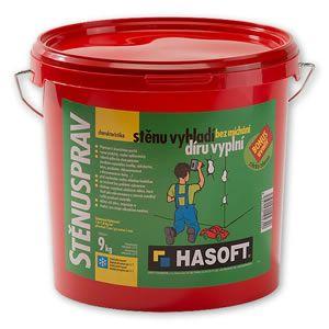 Stěrkový tmel na opravy a vyrovnávání HASOFT stěnusprav 9kg