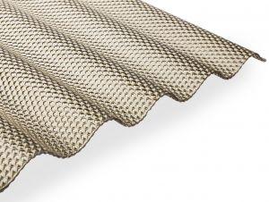 GUTTA Polykarbonátová vlnitá deska Guttagliss WABE (5000x1050mm – 5,25m2/bal) BRONZ