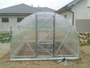 GUTTA Zahradní skleník z polykarbonátu Econom 4x3 m