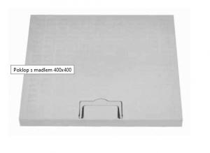 ITADECO Poklop s madlem A15 400x400mm