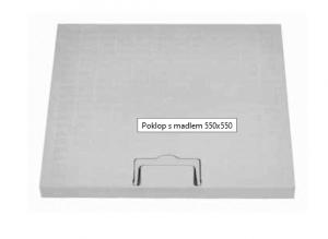 ITADECO Poklop s madlem A15 550x550mm
