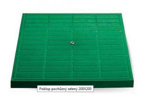 ITADECO Poklop pochůzný zelený 200x200mm