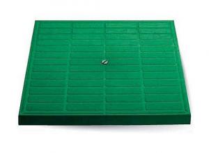 ITADECO Poklop pochůzný zelený 400x400mm