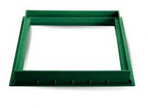 ITADECO Rám z polypropylenu zelený 200x200mm