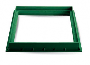 ITADECO Rám z polypropylenu zelený 300x300mm