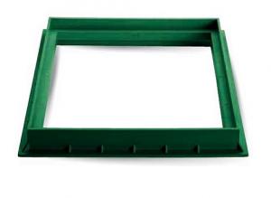 ITADECO Rám z polypropylenu zelený 400x400mm