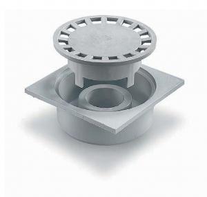 ITADECO Podlahová vpusť z polypropylenu šedá 100x100mm