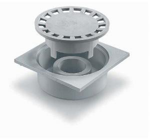 ITADECO Podlahová vpusť z polypropylenu šedá 150x150mm