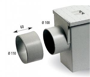 ITADECO Redukce geigeru s bočním odtokem Ø110mm