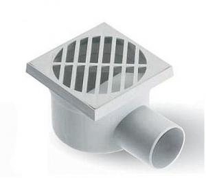 ITADECO Podlahová vpusť s bočním odtokem 100x100mm