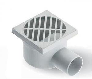 ITADECO Podlahová vpusť s bočním odtokem 150x150mm