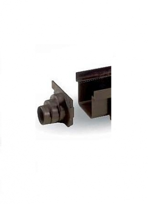 ITADECO Uzávěr žlabu SPECIÁL černý 130x500mm