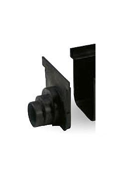 ITADECO Uzávěr žlabu SPECIÁL černý 200x500mm