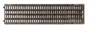 ITADECO Mříž pro žlab z polypropylenu černá A15 130x500mm
