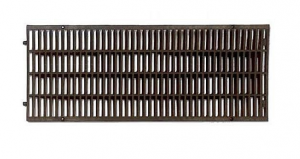 ITADECO Mříž pro žlab z polypropylenu černá A15 200x500mm
