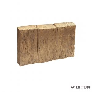 Imitace dřeva DITON Obrubník palisádový vzor DUB - SVĚTLÝ