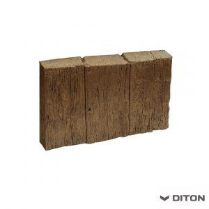 Imitace dřeva DITON Obrubník palisádový vzor DUB - TMAVÝ