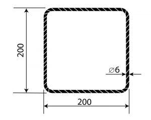 Třmínek R6 200 x 200 mm