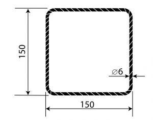Třmínek R6 150 x 150 mm