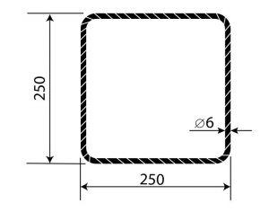Třmínek R6 250 x 250 mm
