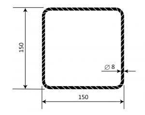 Třmínek R8 150 x 150 mm