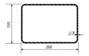 Třmínek R8 150 x 200 mm