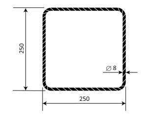Třmínek R8 250 x 250 mm